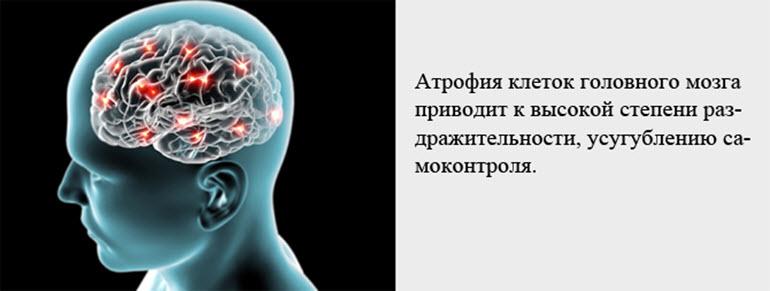 Последствия атрофии мозга
