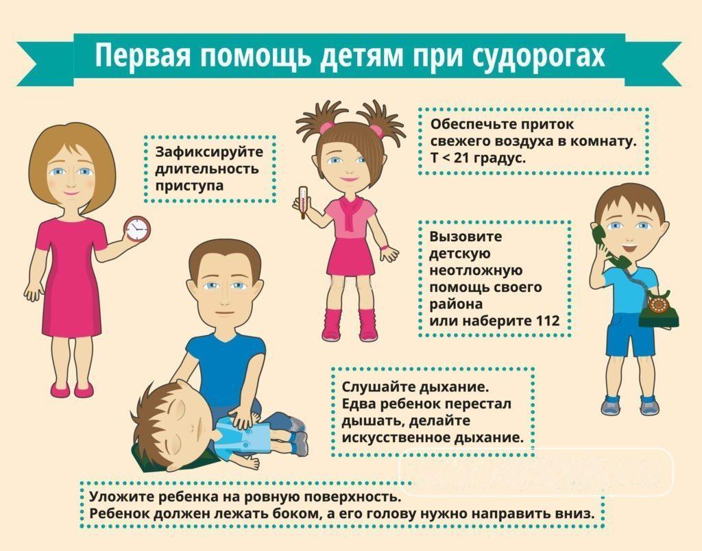 Помощь ребенку при судорогах